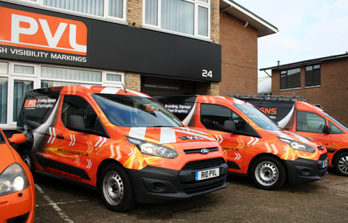 PVL is based in Burgess Hill, West Sussex with nationwide fleet livery support.